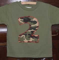 CAMO party shirt...make for 30th