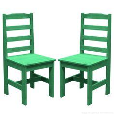 Cadeira Rústica 2 Peças Verde - Uvim | Lojas KD $319