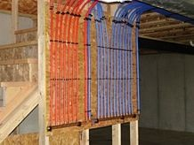 Pex manifold for water supply for the home pinterest for Running copper water lines