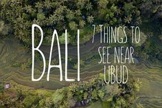 Thinking of visiting Bali in the near future? You can't visit without visiting Ubud and the magnificent attractions nearby. Check out our list!