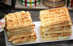 WAFFE CU CASCAVAL - Flaveur Healthy Meals For Kids, Healthy Recipes, Baby Food Recipes, Waffles, Appetizers, Favorite Recipes, Bread, Breakfast, Recipes