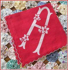 The Scarlet Letter - Vintage Hanky Red Letter A