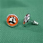 The zone knows - Natty Boh Post-Back Earrings in Orioles Orange no less!