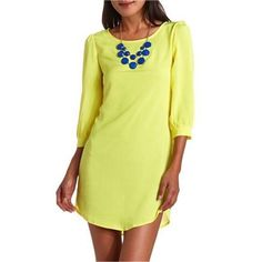 Bright Yellow Dress • Charlotte Russe Bright yellow dress• worn a few times • great condition • belt not included • Charlotte Russe Dresses