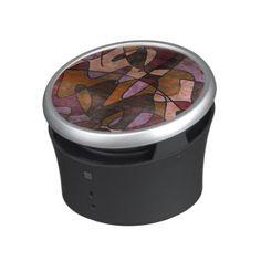Purple, Brown, Burgundy Abstract Art, 5a Speaker