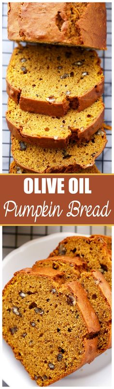 ... Bread - Rich and flavorful, easy to make pumpkin bread with olive oil