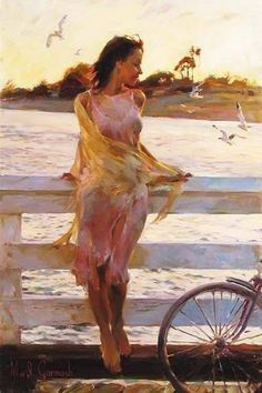 Art by Vicente Romero Redondo Woman Painting, Figure Painting, Painting & Drawing, Painting Clouds, Beauty In Art, Art Et Illustration, Inspiration Art, Portrait Art, Portrait Lighting