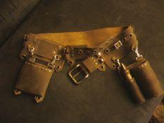 Mechanic Belt Phase 2 by EidolonChaos on DeviantArt Tandy Leather Company, Steampunk Mechanic, Leather Working Patterns, Leather Apron, Phase 2, Deviantart, Steampunk Fashion, Steam Punk, Body Armor