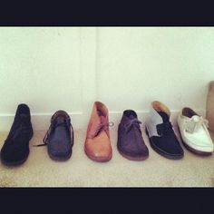 Clarks Desert Boots collection Instagram photo by @worl_boss_keemie