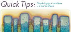 Bullseye Quick Tips: Reactive Glass! – Glass Art