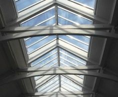 Double Pitched - Finish – VRS roof glazing is produced in stainless steel colour (finish).