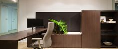 *Credentials casegoods designed by IDa Design. NeoCon 2013 showroom set up for a smaller private office. Waterfall woodgrain on the desk is beautifully executed! #June2013