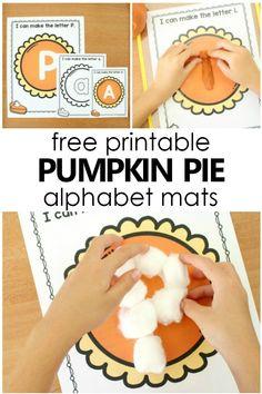 Pumpkin Pie Preschool Alphabet Printables - Fantastic Fun & Learning