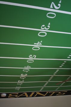 Football Field Ceiling in Boy's Room