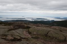 View from Cadillac Mountain, Acadia National Park, Mount Desert Island, Maine