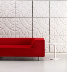 Soundwave® Geo | OFFECCT -- Soundwave® Geo sound-absorbing decorative panels are Eco labeled with the Nordic Swan.