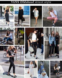Vans Old Skool - najmodniejszy sneaker sezonu Vans Old Skool, Sequin Skirt, Capri Pants, Sequins, Sneakers, Skirts, Fashion, Tennis, Moda