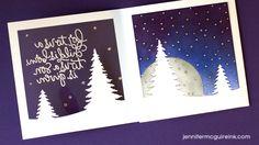 Tri Fold Window Card Video by Jennifer McGuire Ink