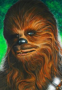 Star Wars portraits: Chewie by *vividfury on deviantART | This art first pinned here: http://pinterest.com/fairbanksgrafix/star-wars-art/ #StarWars #Art