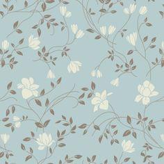 Elemento bidimensional que pertenece a El Plano. Un estampado florar de tonos azules y blancos.