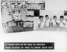 Lots of Pet Milk gave the Quads their daily glasses of Milk