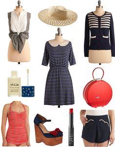 We dream of seas. Nautical fashions.