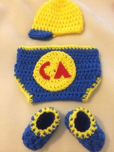 f68581ce695 Crochet club america baby outfit on Etsy