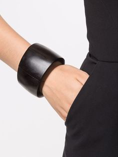 Black wood sectional bracelet from Monies.