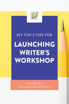 Writing workshop in kindergarten, first grade, and second grade can be hard! Head over to this blog post to read three top tips for launching writer's workshop in a primary classroom!