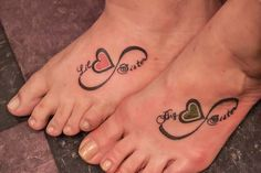 Matching Sister Tattoos Infinity