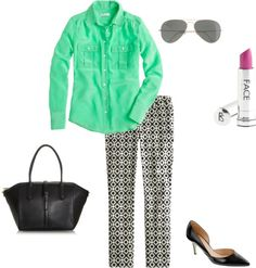 """""""Geometric Print"""" by stacycooksey on Polyvore"""