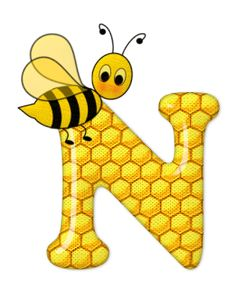 Alphabet letters bee on honeycomb. Bee Pictures, Scrapbook Letters, Spelling Bee, Bee Party, Alphabet And Numbers, Alphabet Letters, Letter Symbols, Coloring Pages, Clip Art