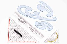 Zeichen-Set klein für Schnittkonstruktion und technische Zeichnungen