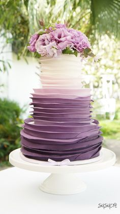 purple wedding colors cake - Google Search