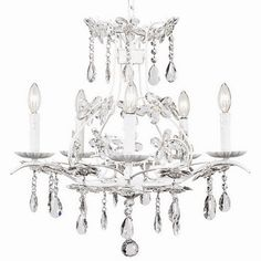 Cinderella Chandelier. I want this for my bathroom!