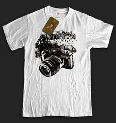 Graphic Design photography camera T-Shirt paparazzi funny tourist (S-XL) FREE SHIPPING. $19.99, via Etsy.