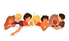 Piper McLean, Jason Grace, Percy Jackson, Annabeth Chase, Leo Valdez, Hazel Levesque & Frank Zhang (Artwork)