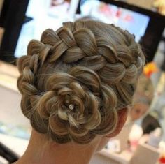 Flower braid bun!