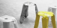 Plopp stool is an icon and a bestseller of Zieta Prozessdesign. The unique, toy-looking and playful shape of Plopp is an effect of an innovative forming method. Metal Fab, Bar Stools, Design Art, Furniture Design, Kitchen Appliances, Home Decor, Art Ideas, Industrial, Passion