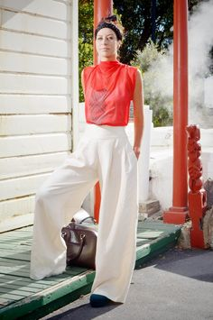 Adrienne Whitewood (Rongowhakaata, Ngai Tamanuhiri) is an award winning Maori fashion designer who has a passion for bringing her culture into her work.