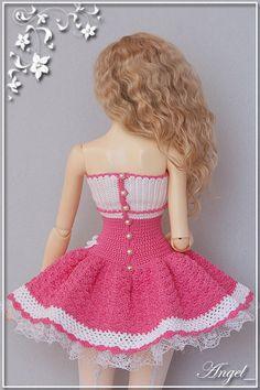 Crochet Doll Dress, Crochet Barbie Clothes, Sewing Doll Clothes, Sewing Dolls, Knitted Dolls, Doll Clothes Patterns, Crochet Bikini Pattern, Crochet Dolls Free Patterns, Barbie Wardrobe