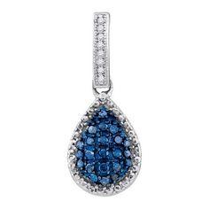 1/5CTW-Diamond FASHION BLUE PENDANT