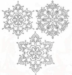Best 12 Crochet snowflakes – set of 6 snowflakes – handmade of white cotton yarn. Each snowflake has been stiffened using natural cornstarch to hold – SkillOfKing. Crochet Snowflake Pattern, Crochet Stars, Crochet Motifs, Christmas Crochet Patterns, Holiday Crochet, Crochet Snowflakes, Crochet Diagram, Doily Patterns, Thread Crochet