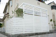 リビング前をパーゴラとウッドフェンスで遮蔽するプチリフォーム