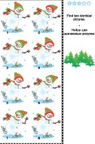 Free Christmas Activities - Spot Difference Snowman