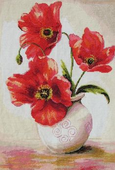 Blooms the vase - cross stitch