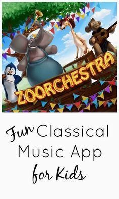 Zoorchestra~Fun Classical Music App for Kids... Little Miss loves classical music (thanks baby and little einsteins!) #EDM #Tribalhouse #Divahouse #Minimalhouse #ghouse #musicproducers #Deephouse #Progressivehouse