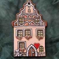 Pottery Houses, Clay Houses, Diy Art, Sculpture Art, Dollhouse Miniatures, Woodworking, Frame, Home Decor, Roof Tiles