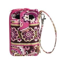 Vera Bradley Carry It All Wristlet in Very Berry Paisley $40.00