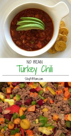 Super easy, compliant Turkey Chili Soup This will be my first meal! Crock Pot Recipes, Paleo Recipes, Dinner Recipes, Cooking Recipes, Paleo Meals, Crockpot Meals, Advocare Recipes, Ketogenic Recipes, Clean Recipes